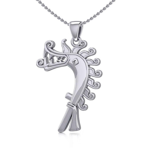 Viking Age Dragon of Birka Silver Pendant TPD4390
