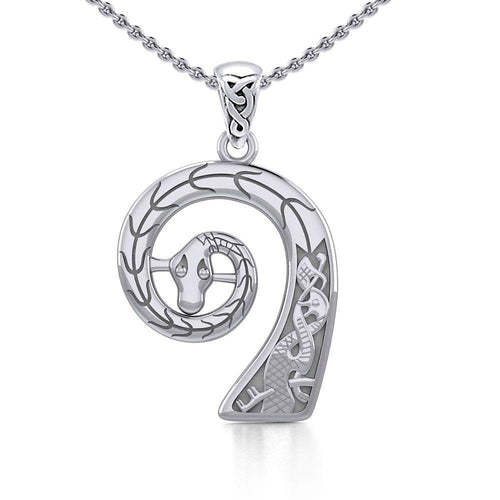 Prow Head of Viking Ship Silver Pendant TPD4393