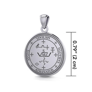 Sigil of the Archangel Michael Sterling Silver Small Pendant TPD4573 Pendant