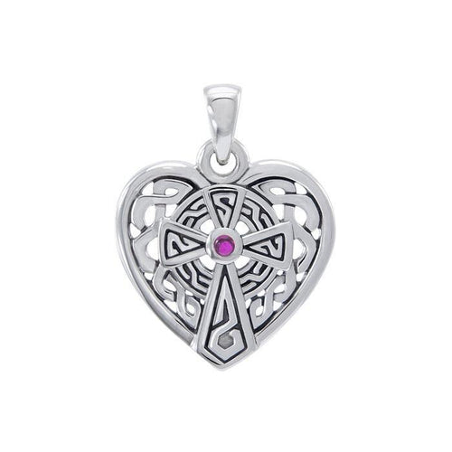 Celtic Cross Heart Pendant TPD4661 peterstone.