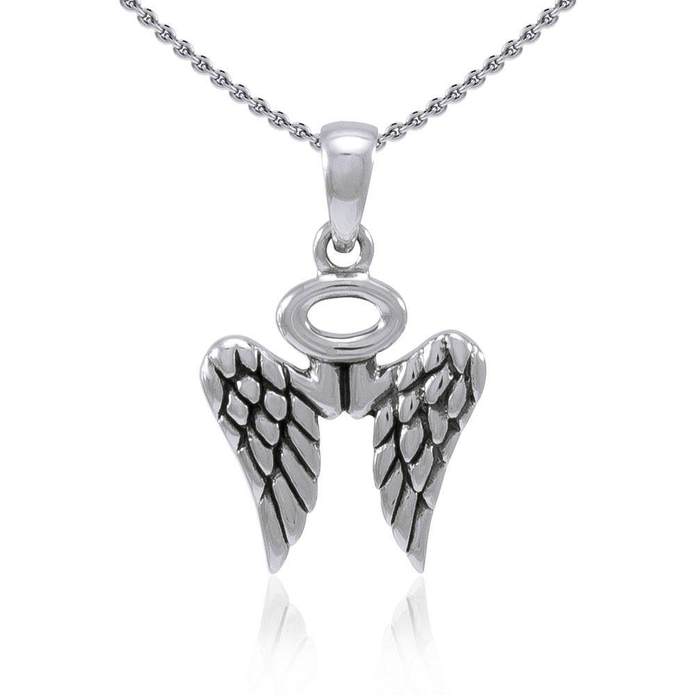 Angel Wings Halo Pendant TPD4702