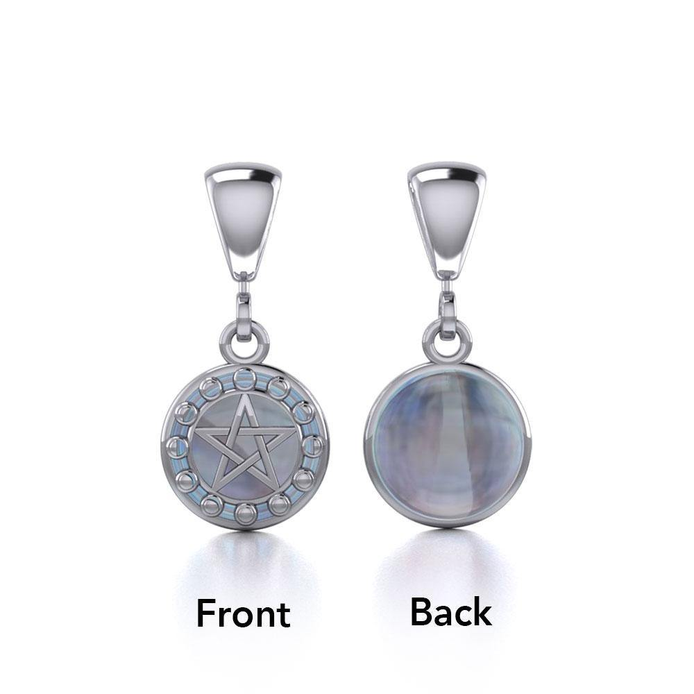 Silver Moon Phases The Star Flip Pendant TPD477