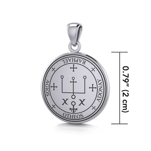Sigil of the Archangel Raphael Small Sterling Silver Pendant TPD4784 peterstone.