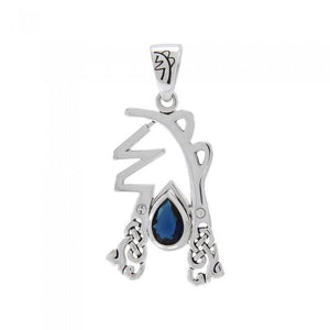 Sei Hei Ki Symbol from Reiki Collection Sterling Silver Pendant with Gemstone TPD4922