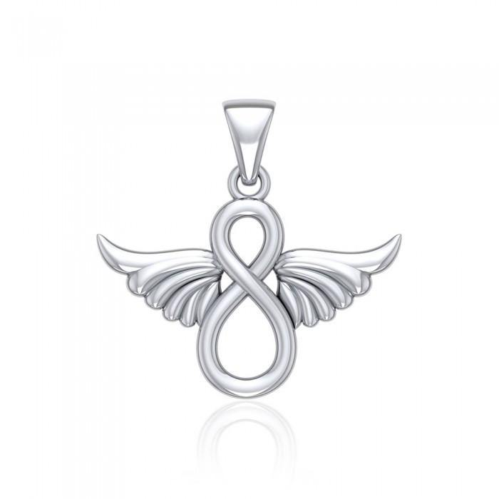 Infinity Angel Wing Pendant