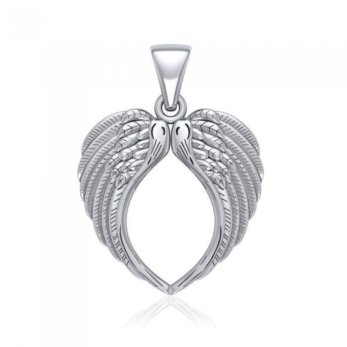 Angel Wing Sterling Silver Pendant TPD5013 peterstone.