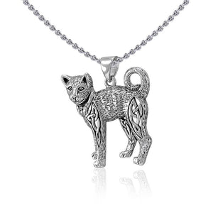 Celtic Cat Silver Pendant TPD5018