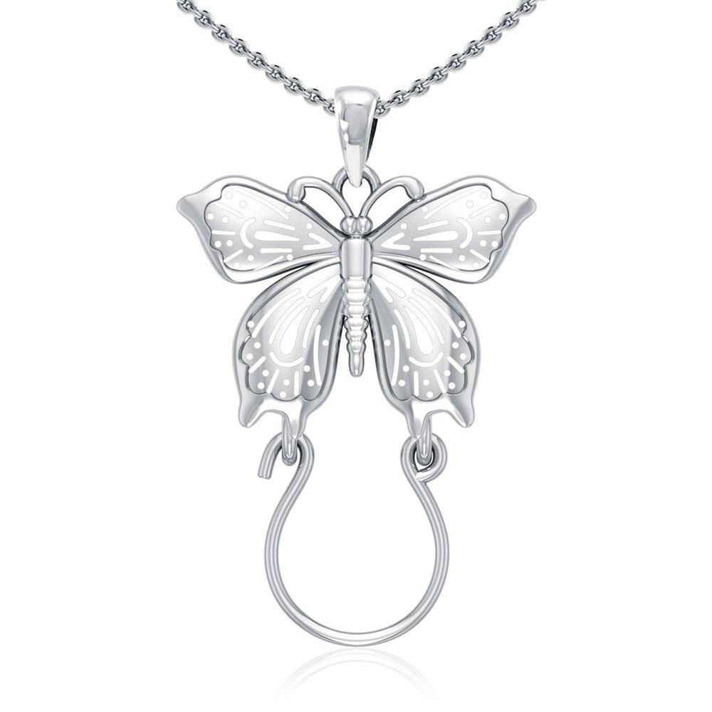 Butterfly Silver Charm Holder Pendant TPD5080
