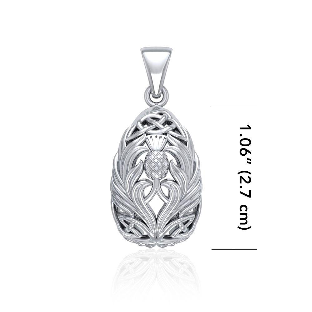 Teardrop Shape Scottish Thistle with Celtic knotwork TPD5164