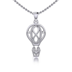 Celtic Infinity Balloon Silver Pendant TPD5188 peterstone.