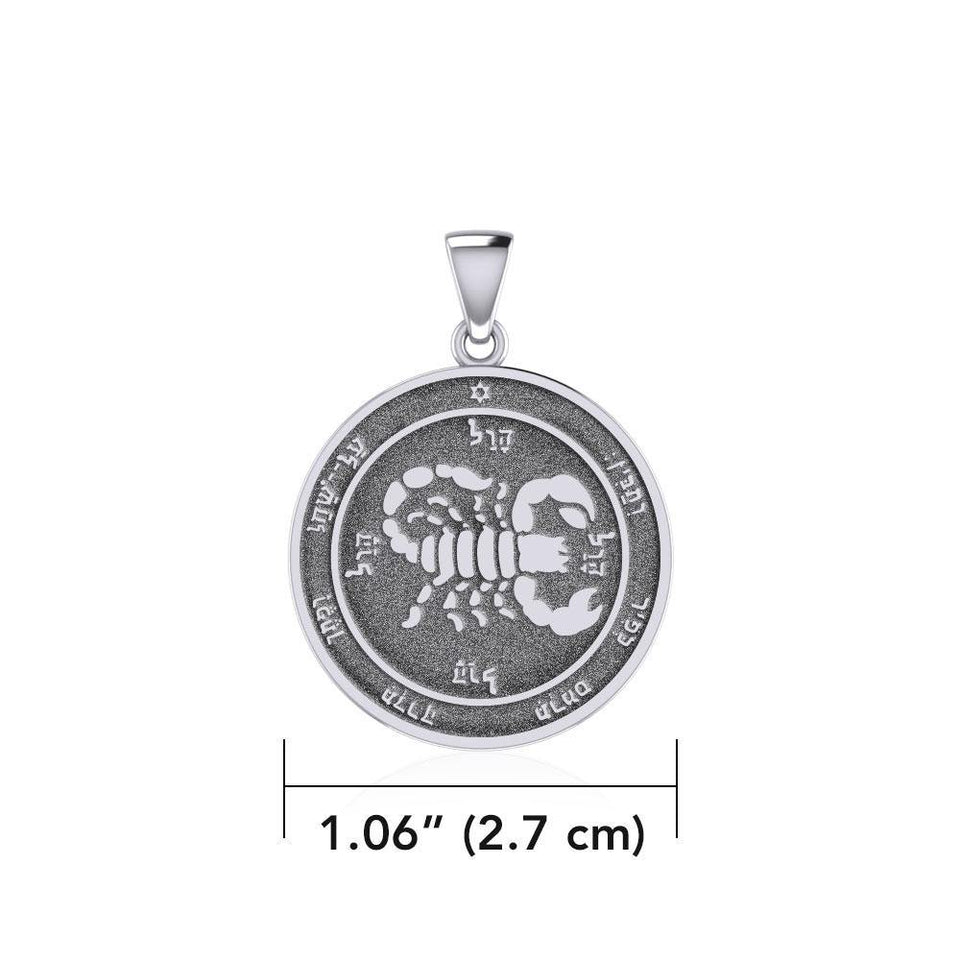 Fifth Pentacle of Mars Silver Pendant TPD5238