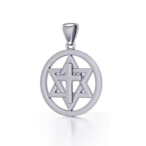 Cross Star Of David Pendant TPD526 peterstone.