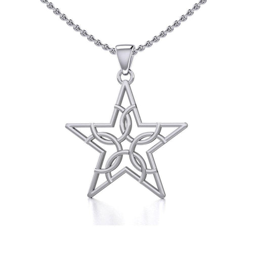 The Fifth Circle with Star Silver Pendant TPD5264 peterstone.