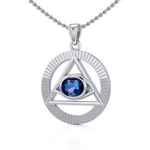 Eye of The Pyramid Silver Pendant TPD5297 peterstone.