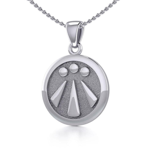 Awen The Three Rays of Light Silver Pendant TPD5304 peterstone.