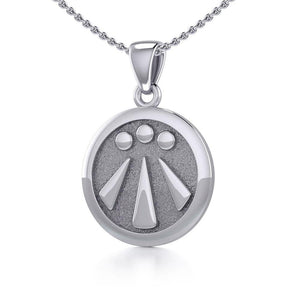 Awen The Three Rays of Light Silver Pendant TPD5304