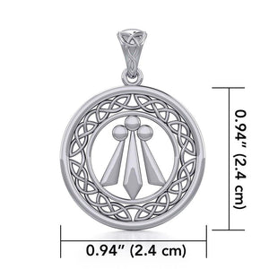 Awen The Three Rays of Light with Celtic Silver Pendant TPD5305 peterstone.