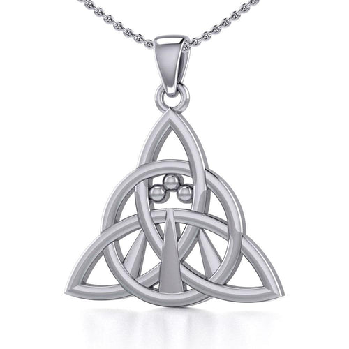 Triquetra with Awen The Three Rays of Light Silver Pendant TPD5306 peterstone.