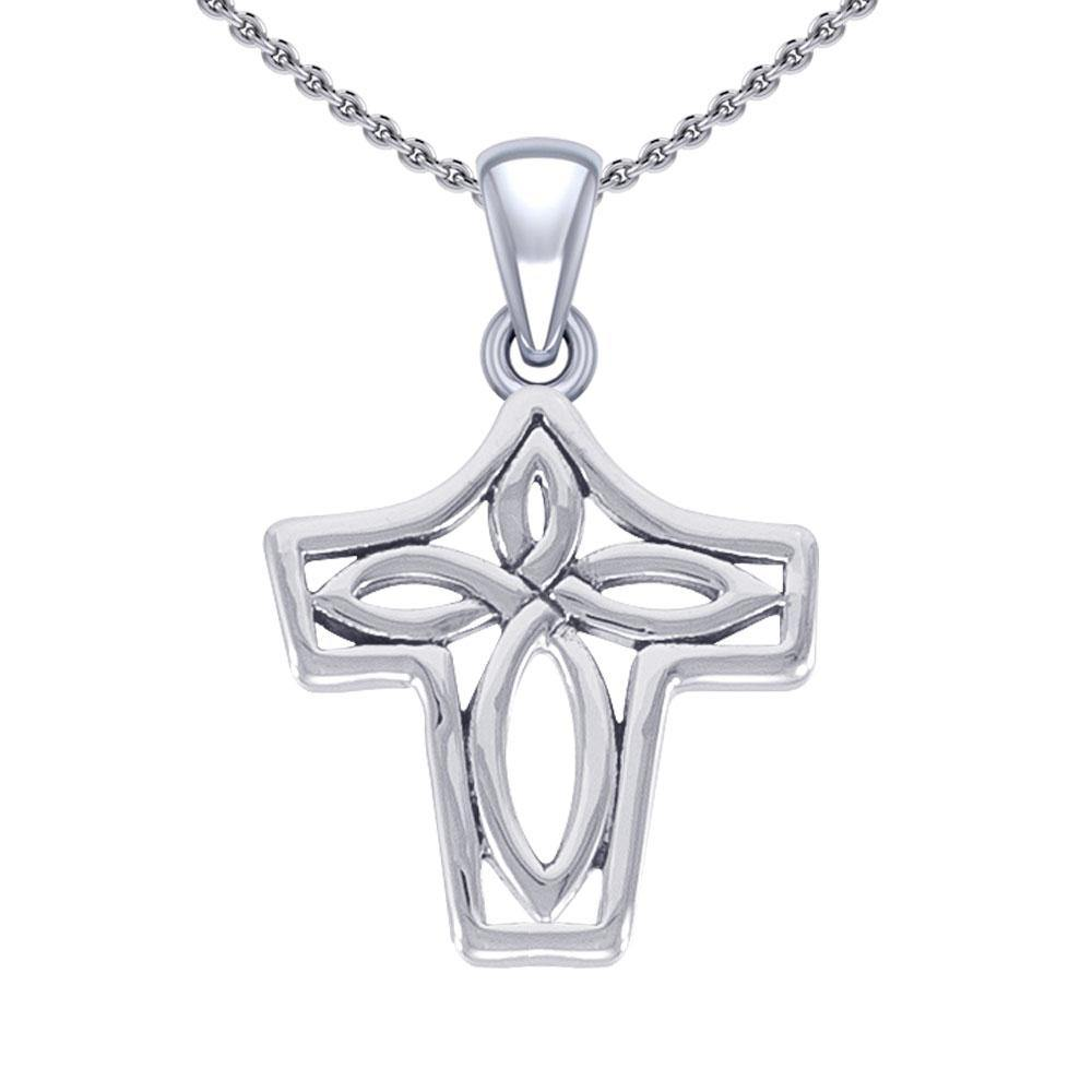 Celtic Knotwork Silver Pendant TPD5366 peterstone.