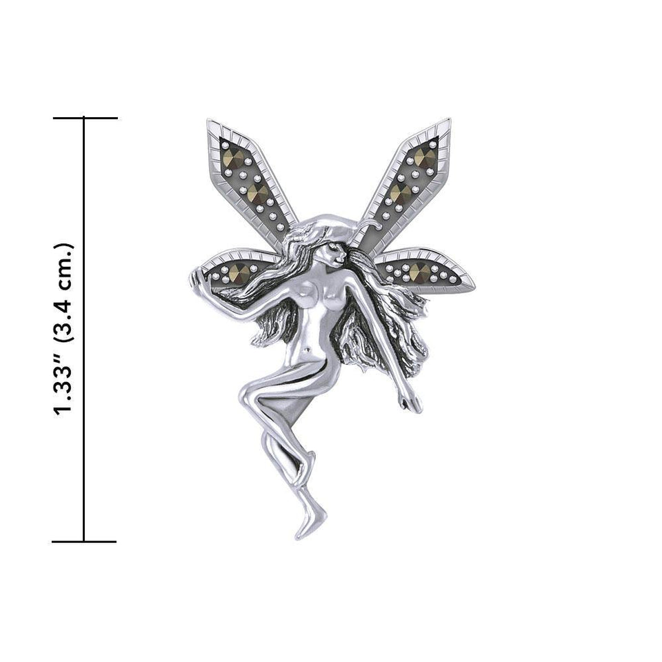 The Little Fairy Silver Pendant with Marcasite TPD5370 peterstone.