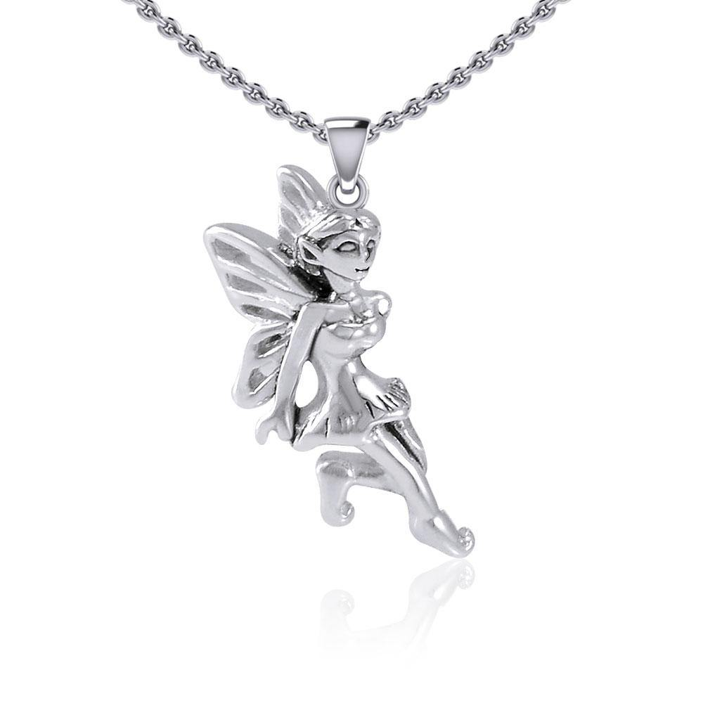 Enchanted Fairy Silver Pendant TPD5397 peterstone.