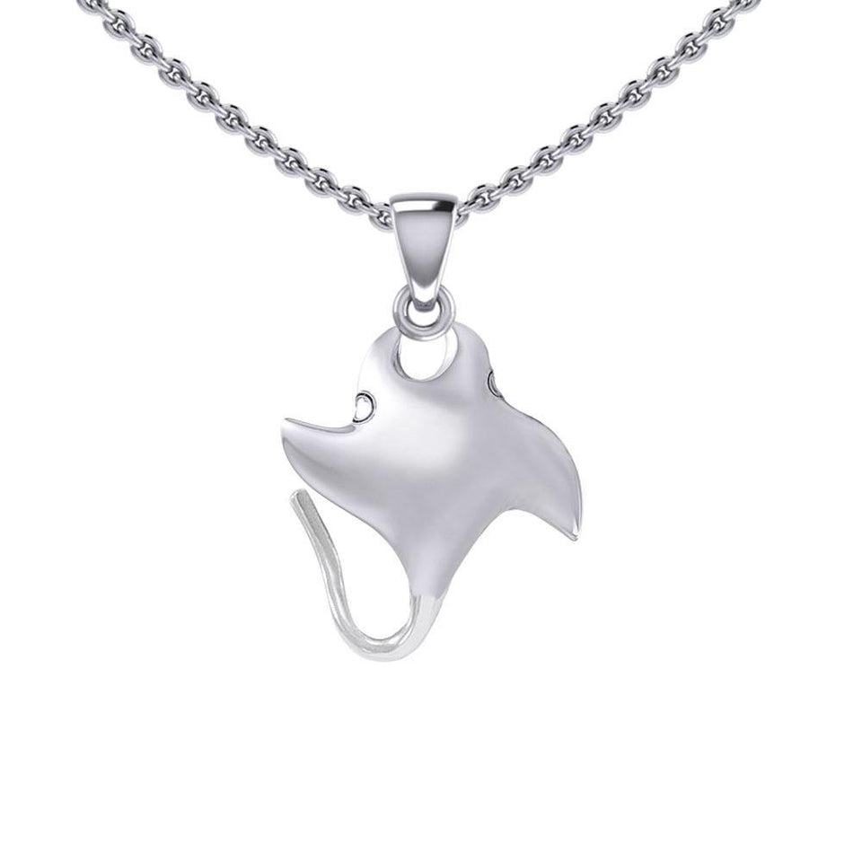 Small Manta Ray Silver Pendant TPD5399 peterstone.