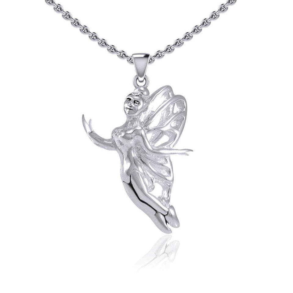 Enchanted Flying Fairy Silver Pendant TPD5410 Pendant