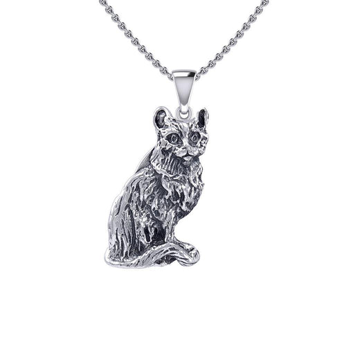 Cat Silver Pendant TPD5414 peterstone.