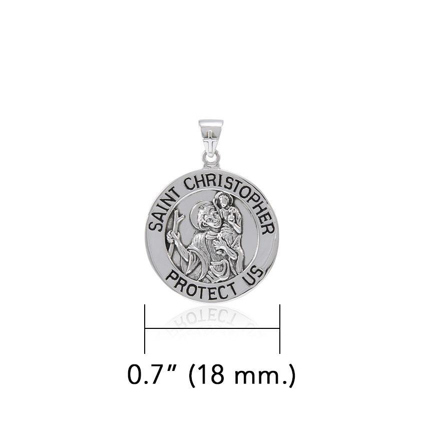 Saint Christoper Silver Pendant (Small 18 mm.) TPD5464