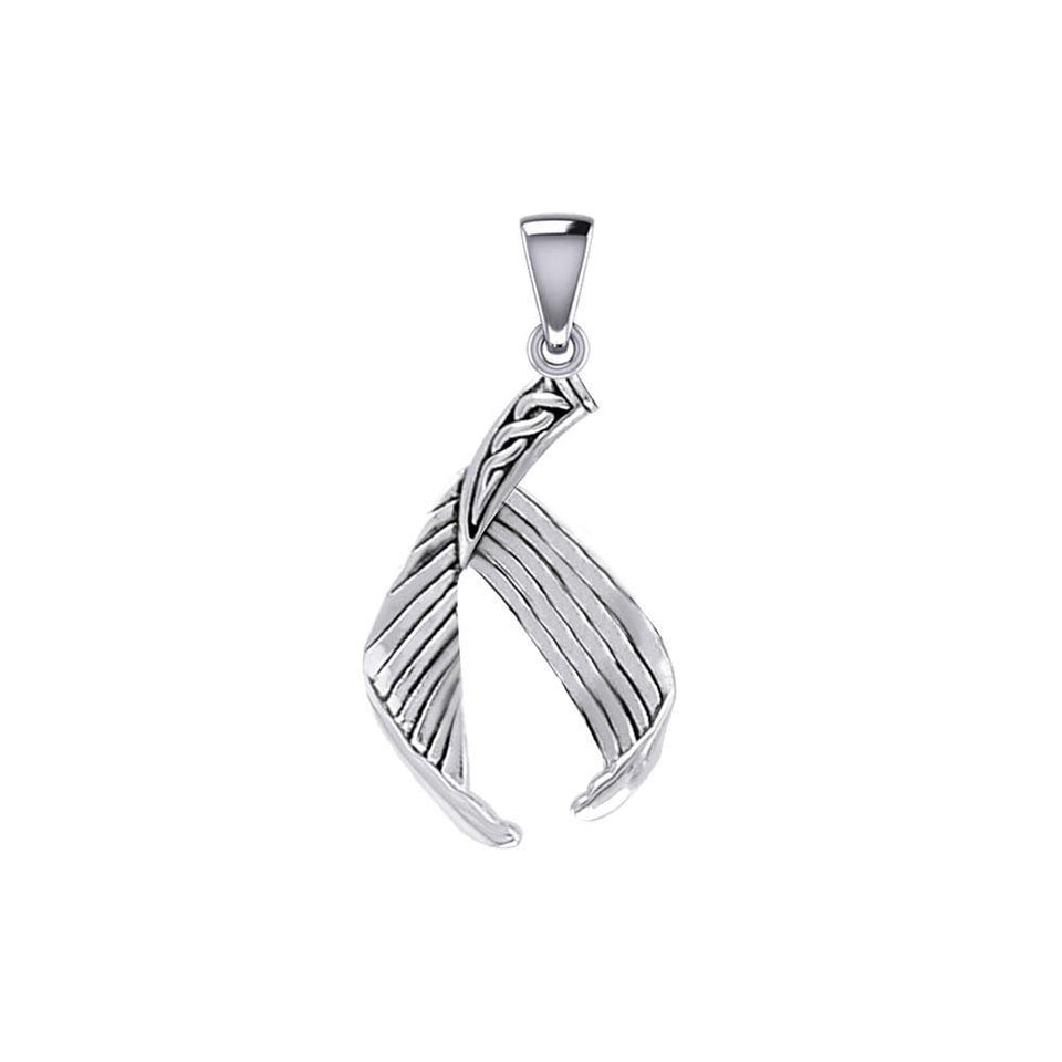 Celtic Mermaid Tail Sterling Silver Pendant TPD5474