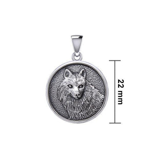 Wonderful Wolf Silver Pendant TPD5475
