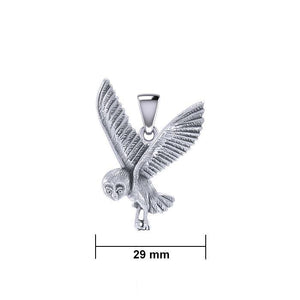 Flying Owl Silver Pendant TPD5476