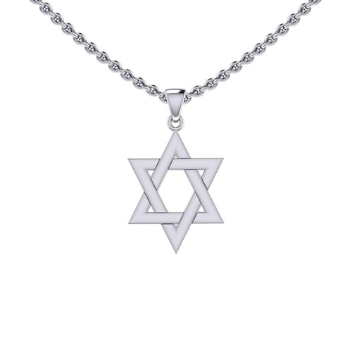Star of David Silver Pendant TPD5503 peterstone.