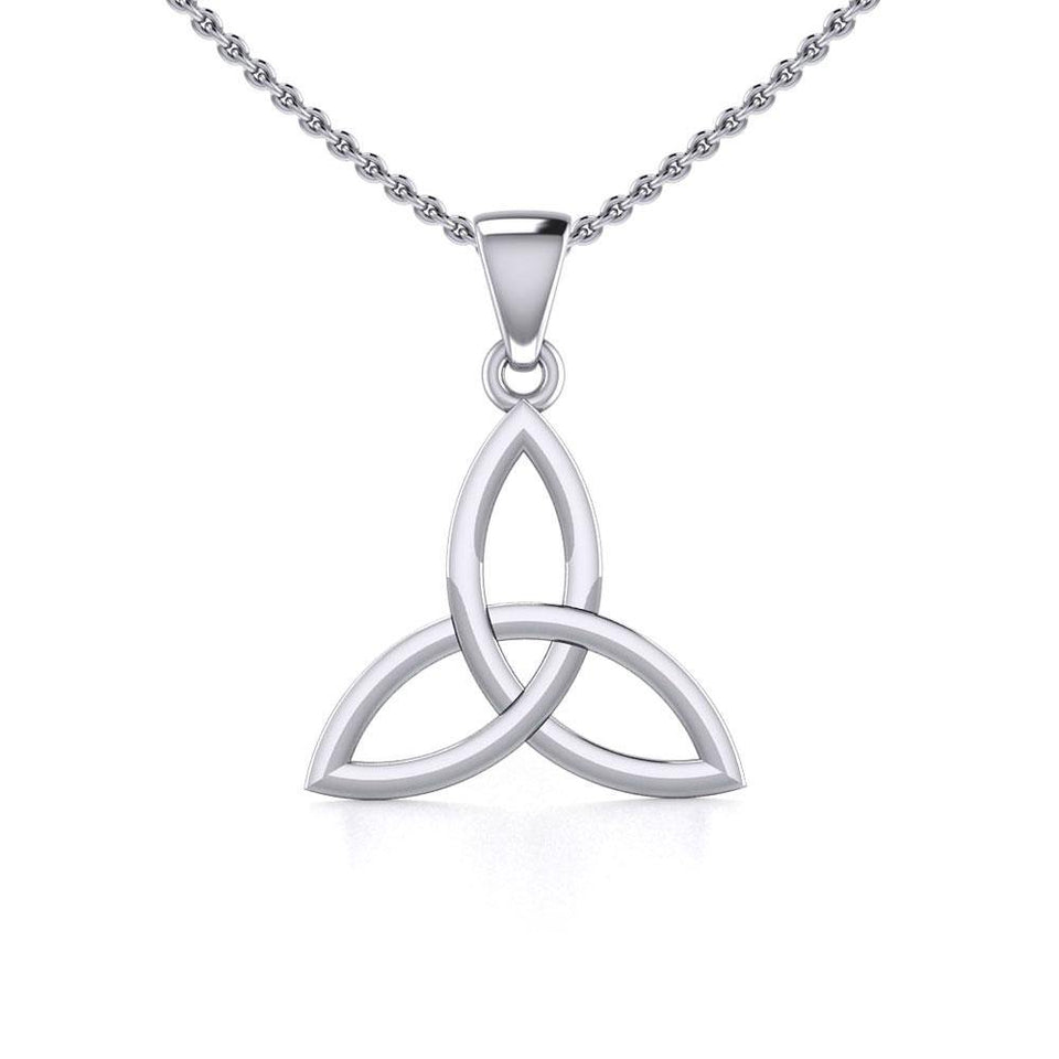 Celtic Trinity Knot Silver Pendant Small Size TPD5607 peterstone.