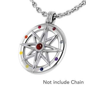 Wander through my compass ~ Sterling Silver Pendant Jewelry and gemstone TPD683 peterstone.