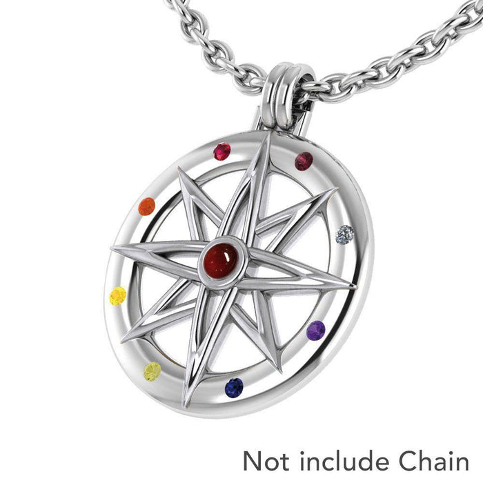 Wander through my compass ~ Sterling Silver Pendant Jewelry and gemstone TPD683