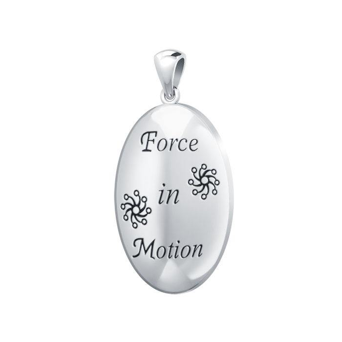 Empowering Words Force in Motion Silver Pendant TPD768 peterstone.