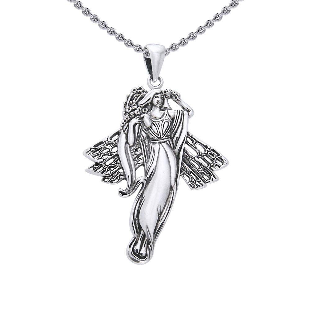 Blossoming fairy waiting to be your friend ~ Sterling Silver Jewelry Ring TPD970 Pendant