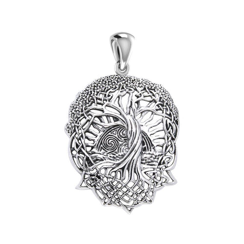 Admiration towards the Tree of Life creation ~ Sterling Silver Jewelry Pendant TPD974 peterstone.