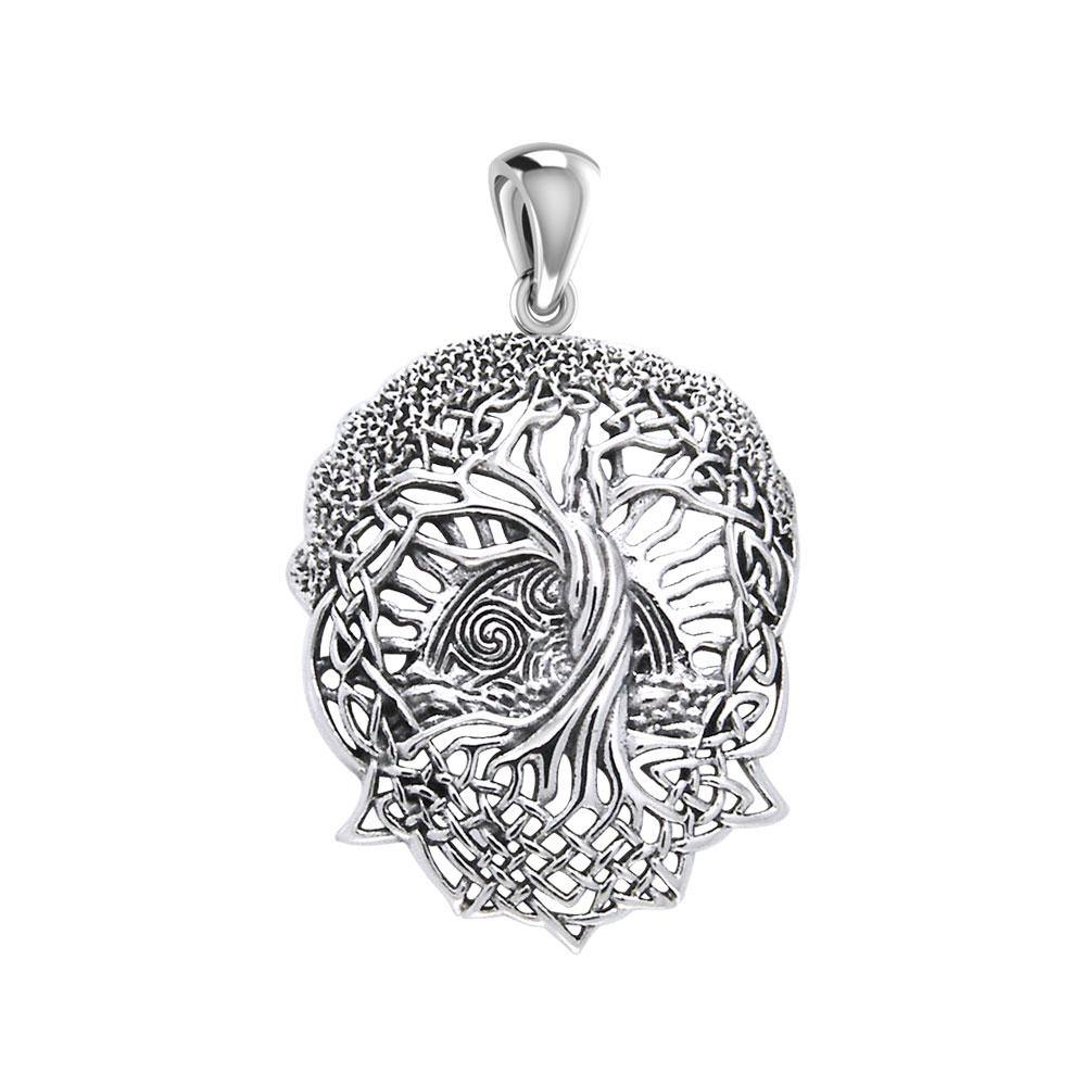 Admiration towards the Tree of Life creation ~ Sterling Silver Jewelry Pendant TPD974