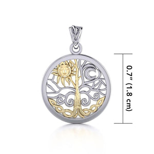 A Lifetime Treasure ~ 14k Gold accent and Sterling Silver Jewelry Pendant TPV3109