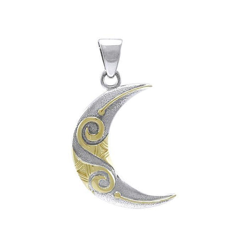 Spiral Crescent Moon Pendant TPV3411 peterstone.