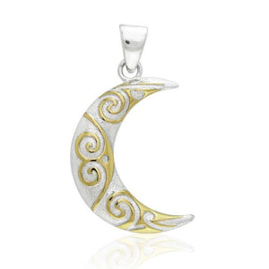 Spiral Crescent Moon Pendant TPV3412 peterstone.
