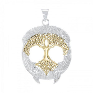 Live Beautifully with the Tree of Life ~ Sterling Silver Jewelry Pendant TPV3472 peterstone.