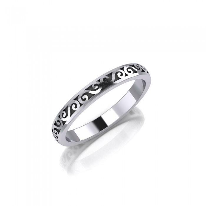 Celtic Silver Spiral Ring TR014