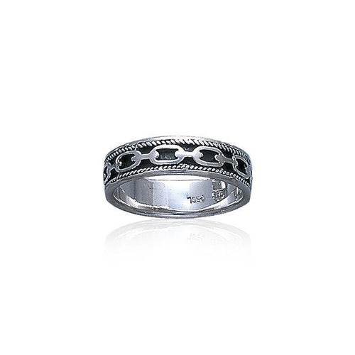 Celtic Knotwork Chain Link Ring TR086