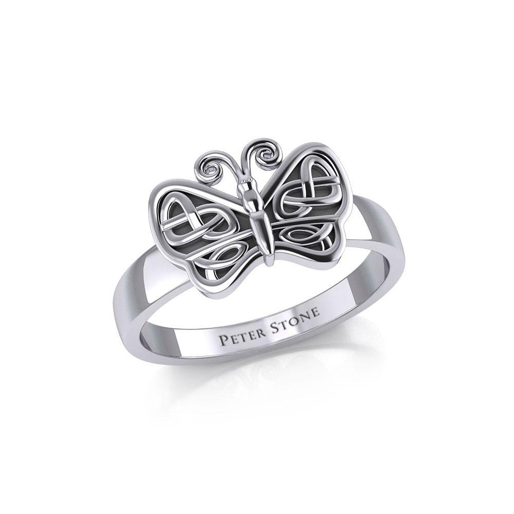 Celtic Knots Silver Butterfly TR1023
