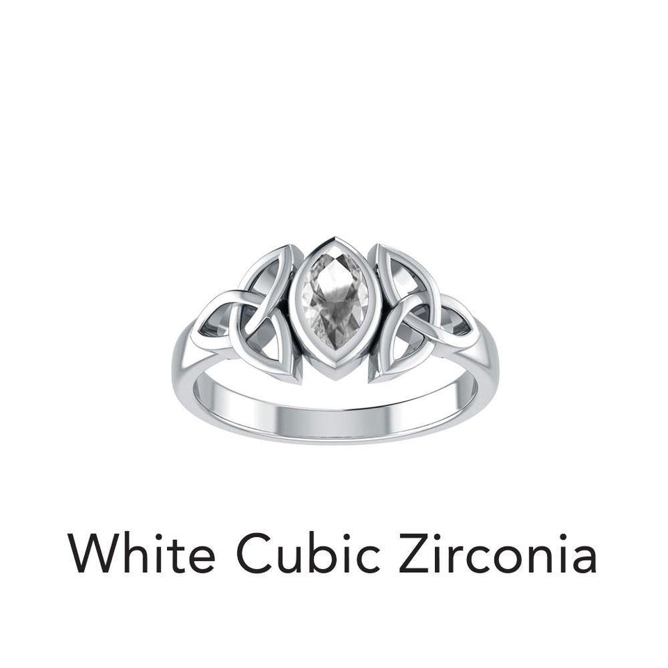 A Beautiful Tribute Celtic Triskele Silver Ring TR114