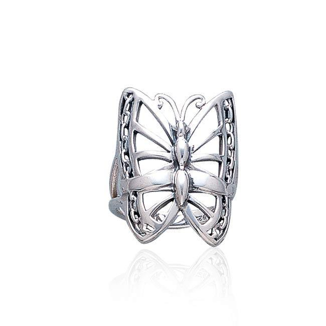 Silver Butterfly Ring TR1312