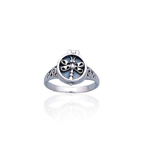 Dragonfly Poison Silver Ring TR1329